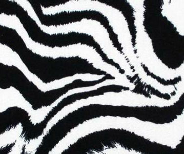 ZEBRA PRINT BLACK WHITE